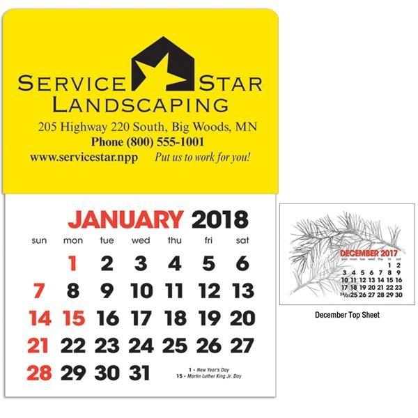 2-Color Stick Up Grid, English (13-Month) Calendar