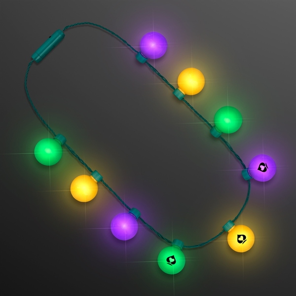 Mardi Gras Light Globes Party Necklace