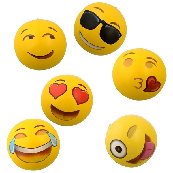 12 Emoji PVC Inflatable Beach Balls