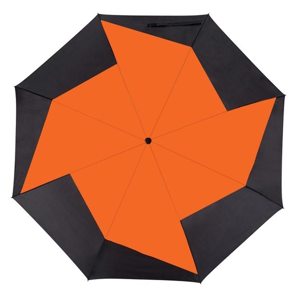 "46"" Vented Pinwheel Folding Umbrella"