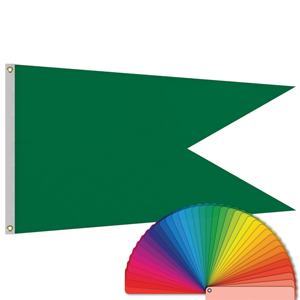 3' x 5' Solid Color Swallowtail Flag w/ Heading & Grommets