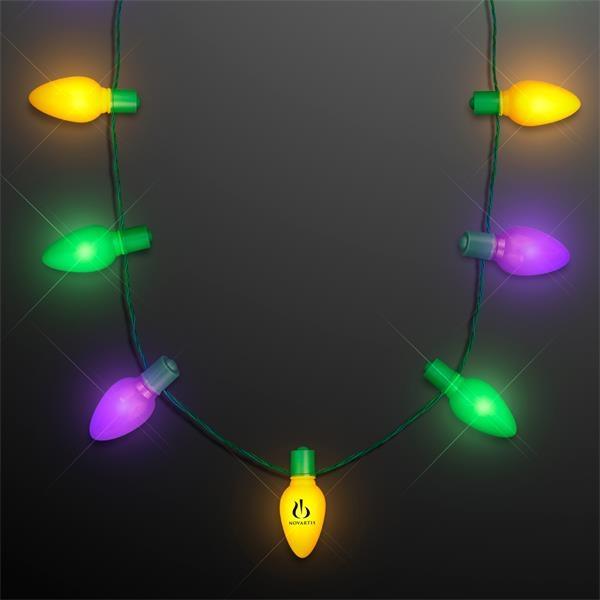 "Mardi Gras 2"" Big Bulbs VALUE Light Strand Necklace"