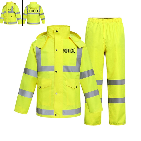 Night High Visibility Breathable Premium Rain Jacket Rain Co