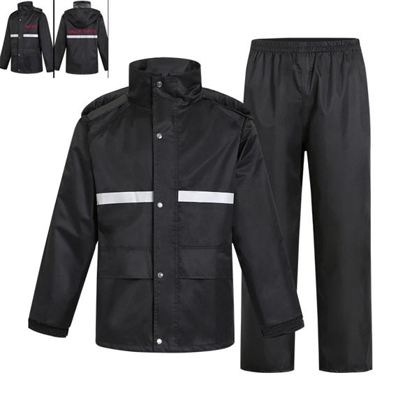 High Visibility Breathable Motorcycle Rain Jacket Rain Coat