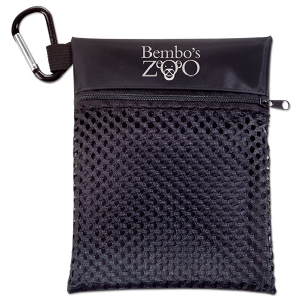 Mesh Golf Tote with Carabiner