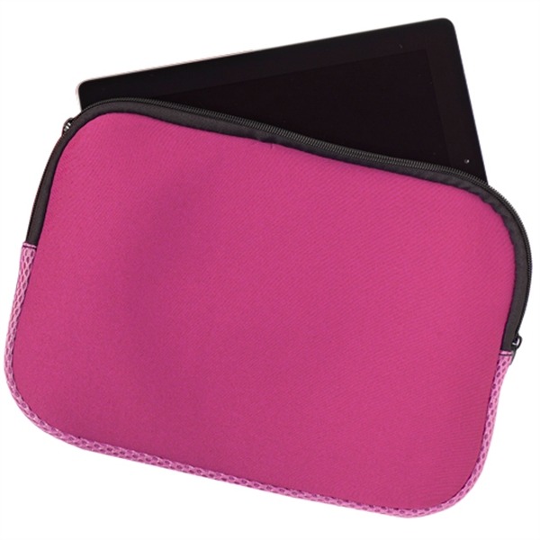 Padded Zippered Tablet Case- Full Color