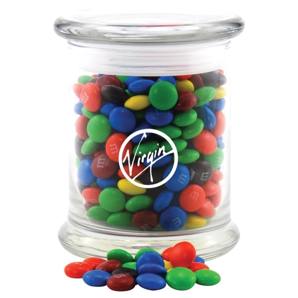 Chocolates in a Large Round Glass Jar with Lid