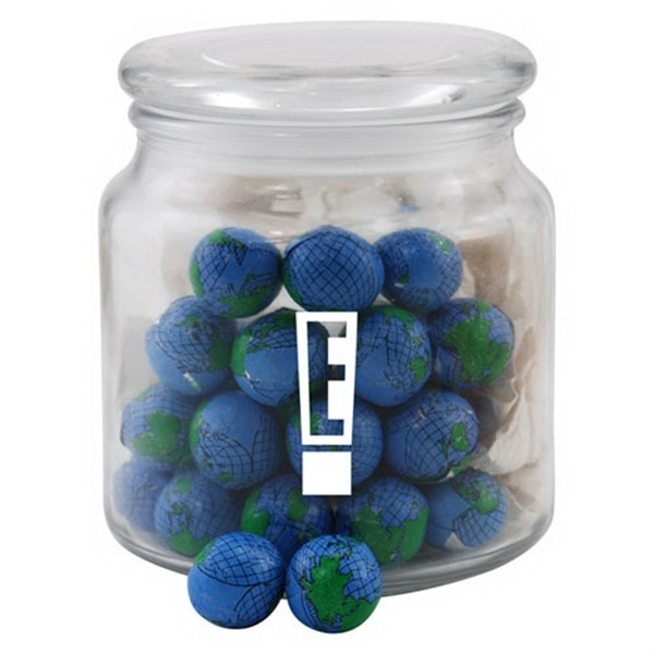 Chocolate Globes in a Glass Jar with Lid