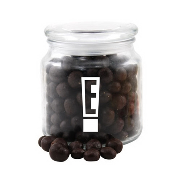 Chocolate Espresso Beans in a Glass Jar with Lid