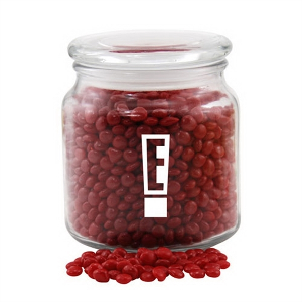 Red Hots Candy in a Glass Jar with Lid