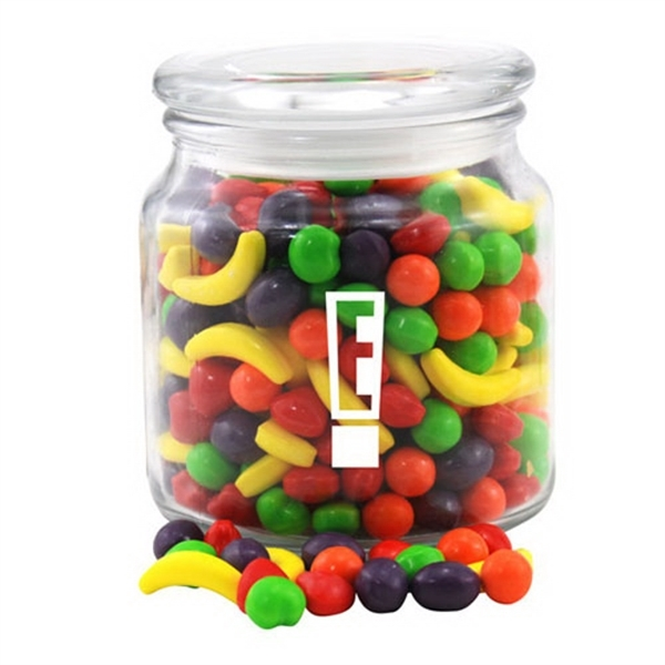Runts Candy in a Glass Jar with Lid