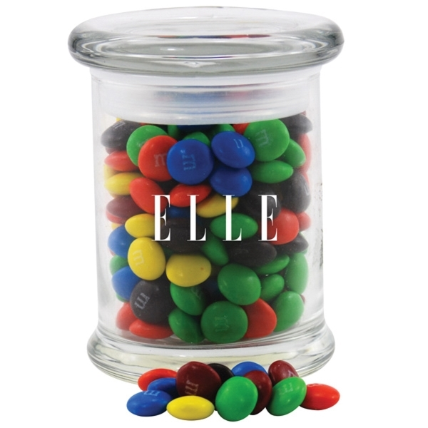 Chocolates in a Round Glass Jar with Lid