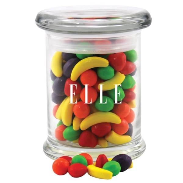 Runts Candy in a Round Glass Jar with Lid