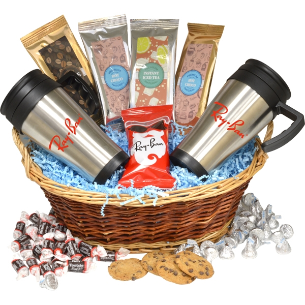 Premium Mug Gift Basket with Assortment