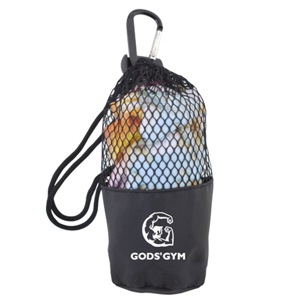 Cooling Towel in Mesh Drawstring Pouch w