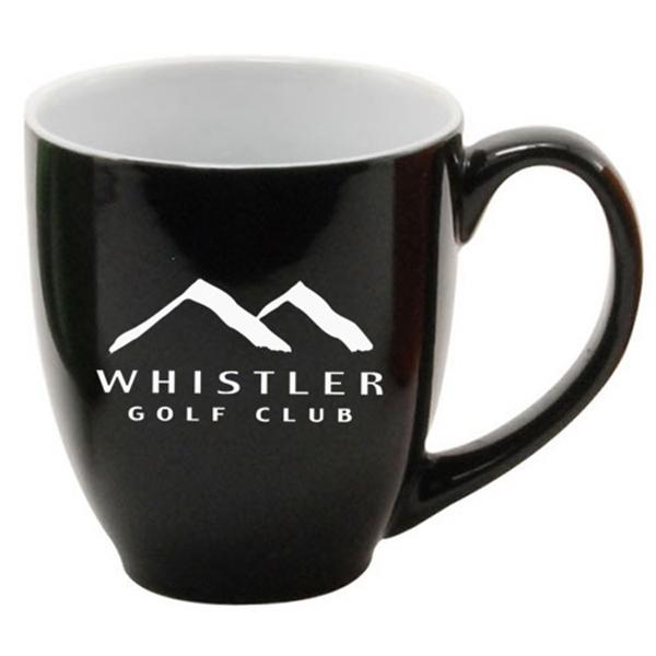 14 oz Colored Ceramic Coffee Mug with White Interior