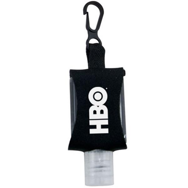 .5 oz Hand Sanitizer Gel in Neoprene Keychain Case