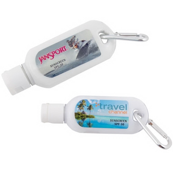 2 oz sunscreen lotion with carabiner SPF