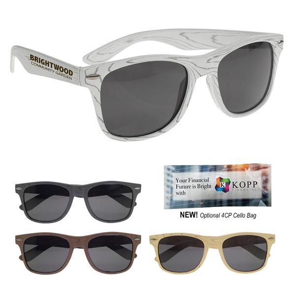 Designer Collection Woodtone Malibu Sunglasses