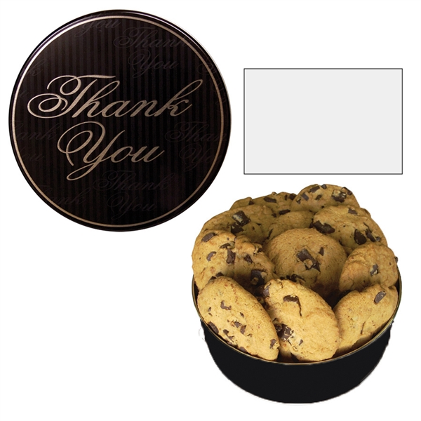 The Royal Cookie Christmas Tin - Thank You Design - Cookies