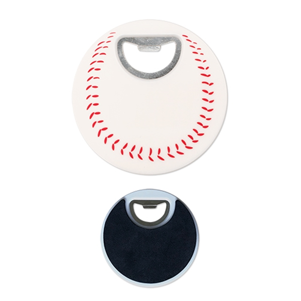 Sports Baseball Coaster Bottle Opener