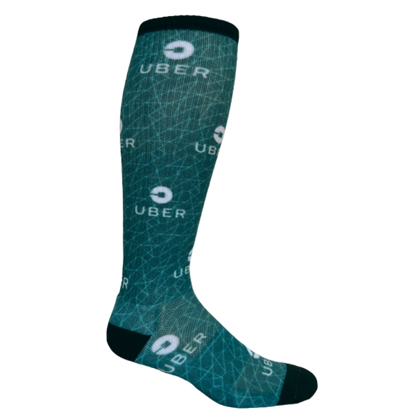 Athletic Knee-High Sock With DTG Printing