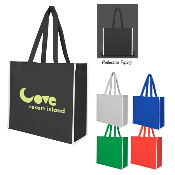 Non-Woven Reflective Edge Tote Bag