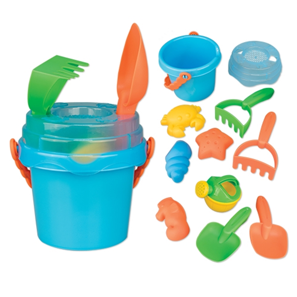 Mini Sand Pail with Toys and Lid