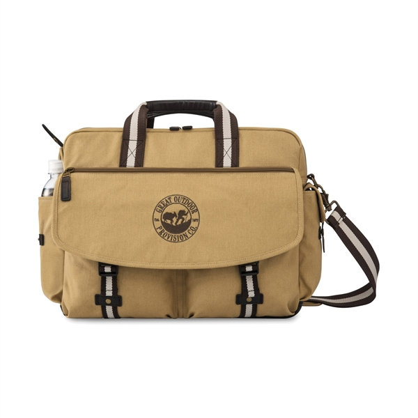 Heritage Supply Ridge Cotton Computer Messenger Bag