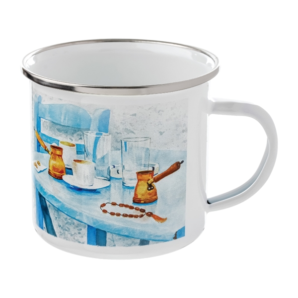 10 oz. Camper Enamel Mug w/Full Color Sublimation