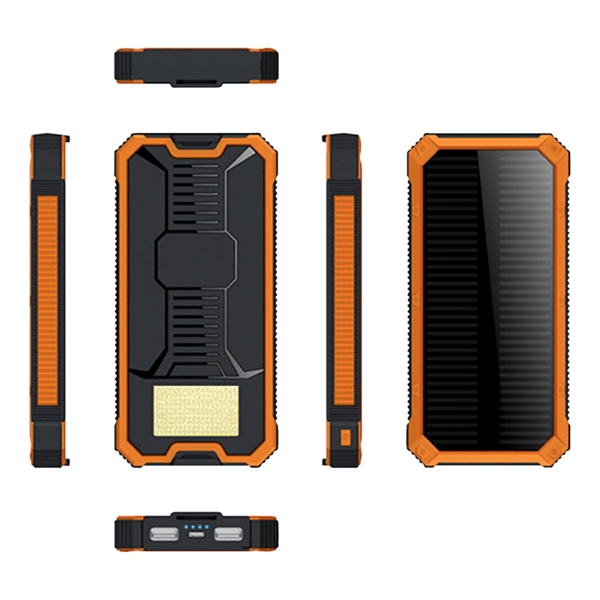 8000mAh Solar Power Bank with Torch