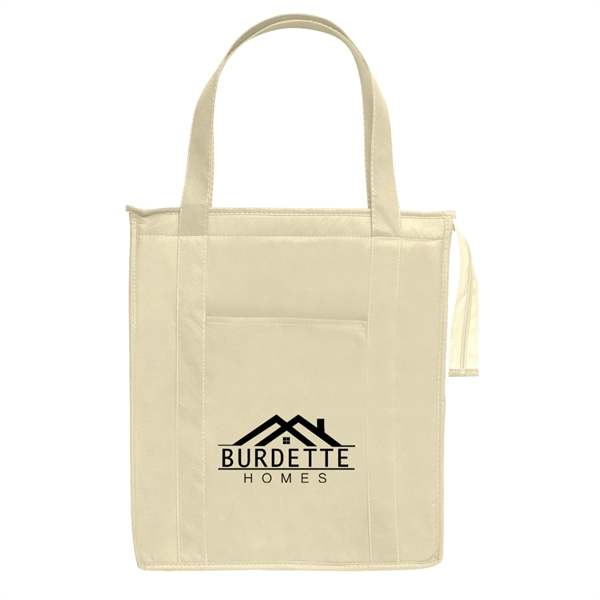 Non-Woven Insulated Shopper Tote Bag - Non-Woven Insulated Shopper Tote Bag.  Made Of 80 Gram Non-Woven, Coated Water-Resistant Polypropylene.  Recyclable.  Reusable.