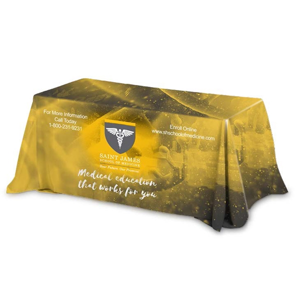 Six' 4-Sided Throw Style Table Covers & Table Throws