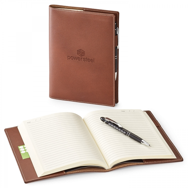 NATHAN GENUINE LEATHER  REFILLABLE JOURNAL COMBO