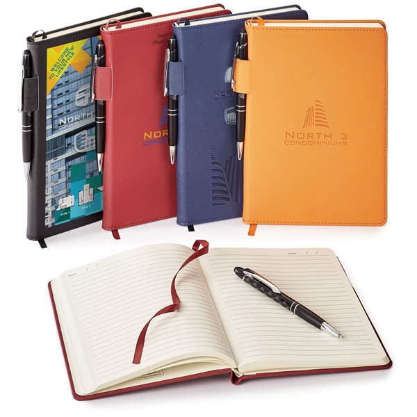 TOSCANO GENUINE LEATHER NON-REFILLABLE  JOURNAL COMBO
