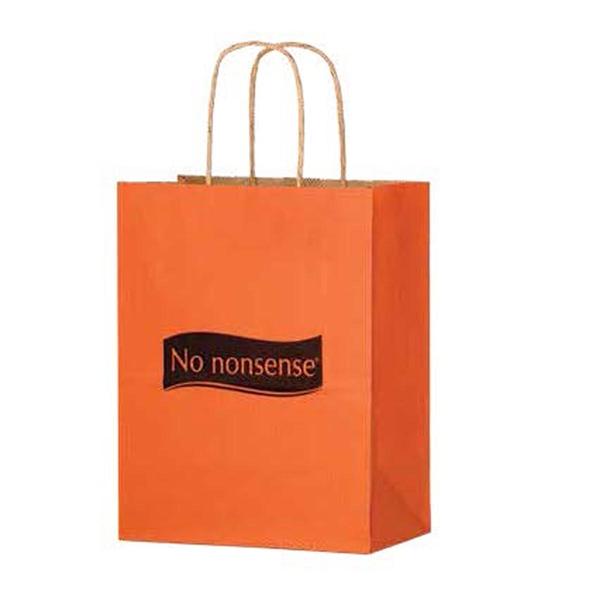 Matte Color Paper Shopper Bag - Flexo Ink