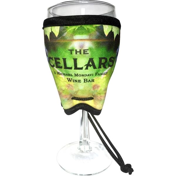 Full Color Neoprene Wine Glass Sleeve