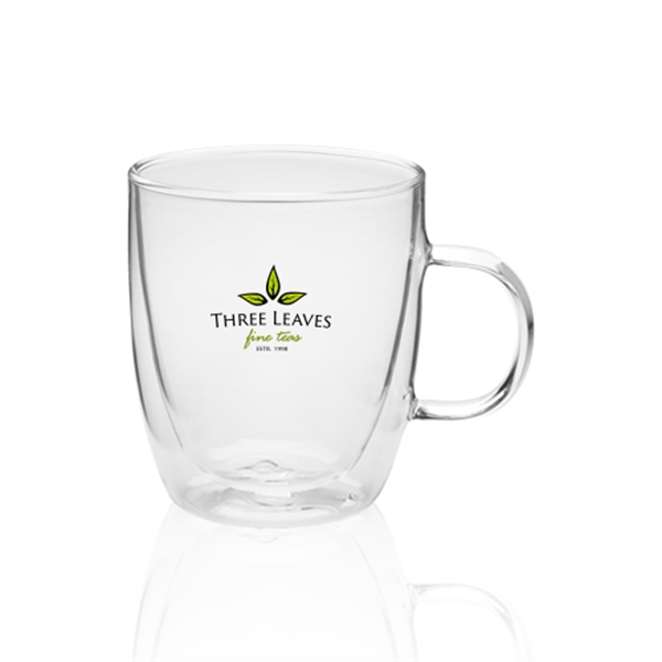 14 oz Crystalite Double Wall Glass Coffee Mugs