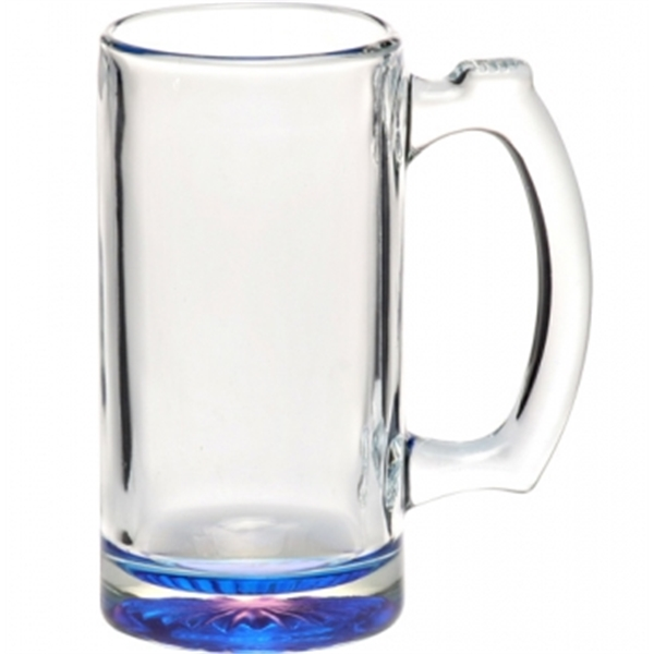 Clear Libbey 12.5 oz glass sports beer mug
