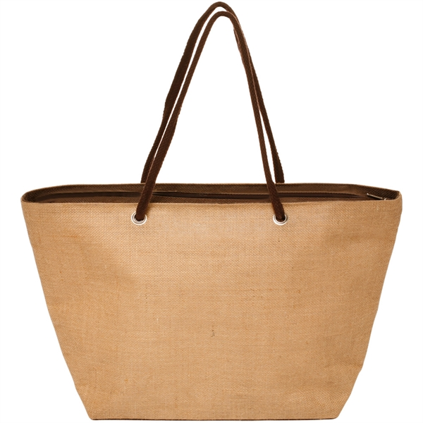 Jute basket tote bag