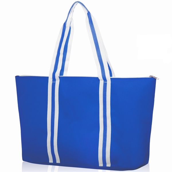 Striped Handle Sport Tote Bag