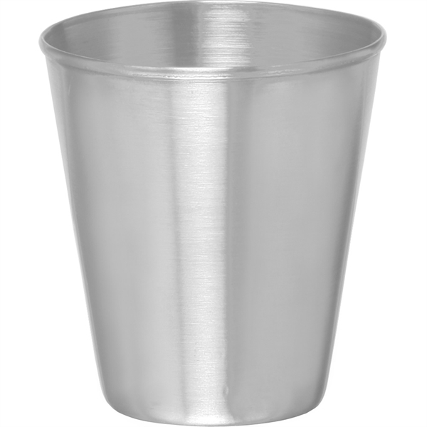 Stainless steel shot glass, 2.5 oz
