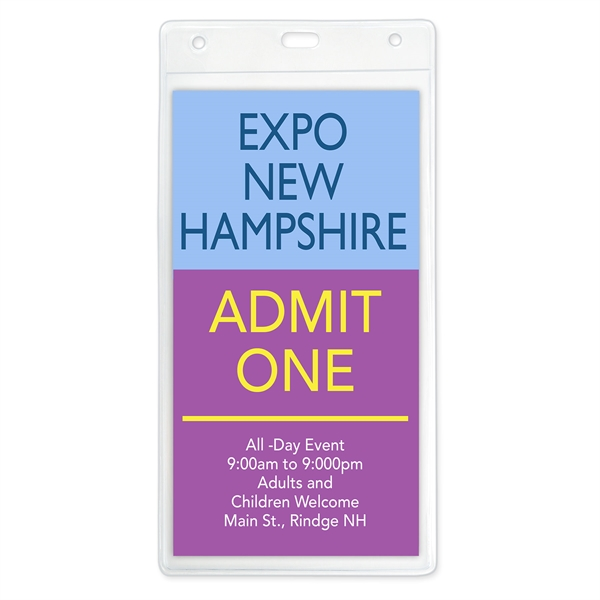 Large Vertical Event Size Badge Holders, 4.13