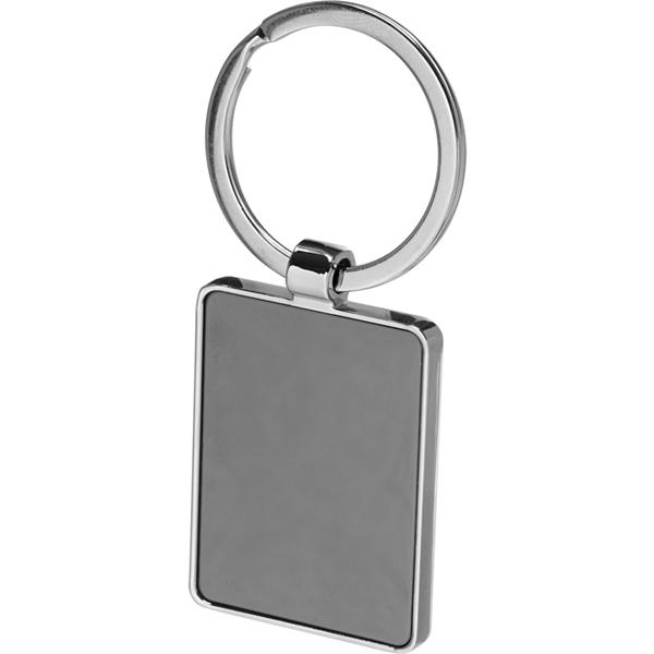 Two Tone Rectangular Metal Keychain