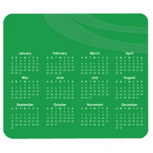 Customized Horizontal Calendar Mouse Pad