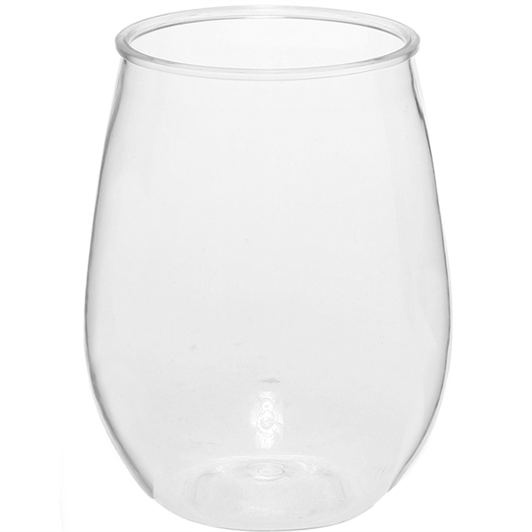 10 oz Mini Stemless Plastic Wine Glasses