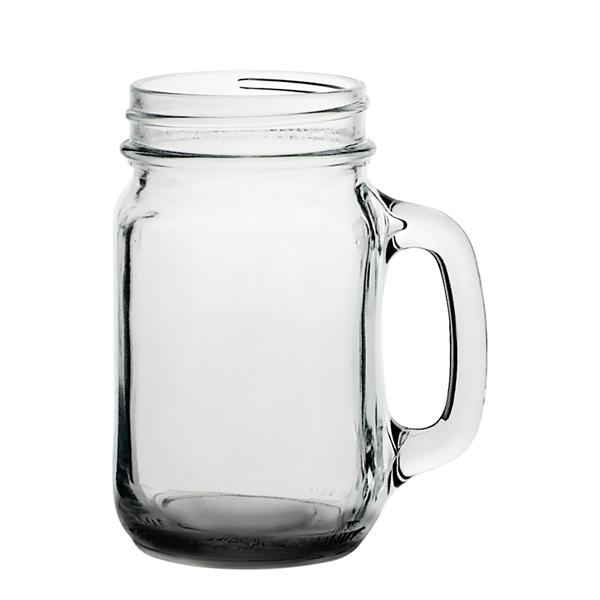 Clear Libbey 16 oz drinking jar mason glass