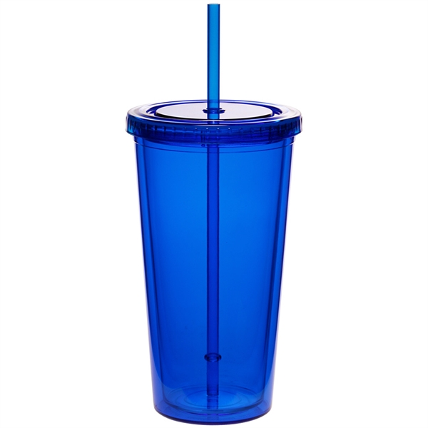 20 oz. Double Wall Acrylic Tumbler With Straw