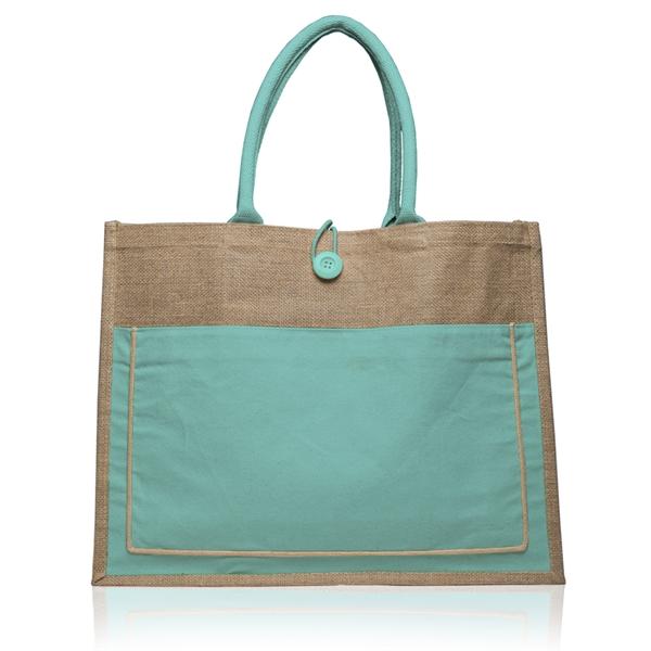 """18"""" W x 14"""" H Cotton Pocket Jute Bags"""
