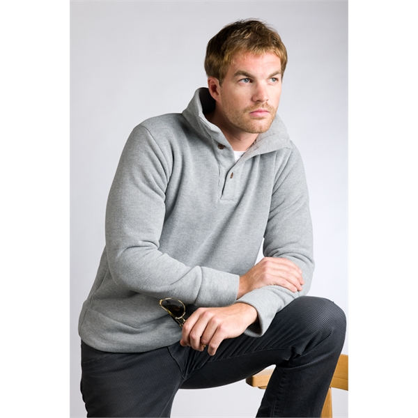 Men's Sweater with 3 Button Placket